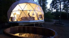 Dream dome at Ridgeback Lodge in New Brunswick, Canada.  http://www.theaustralian.com.au/travel/teepees-and-tenthouse-suites/story-e6frg8rf-1227040490224
