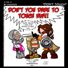 J to J: Don't touch! by ~KamiDiox Love her art :) based on a clip from the season 8 gag reel