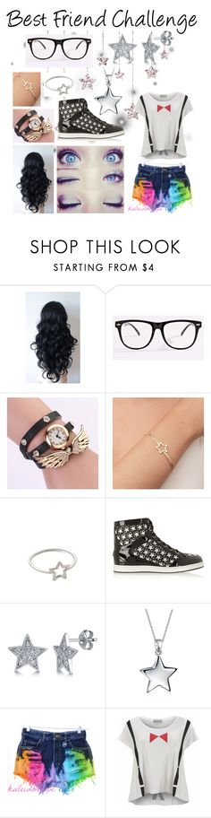 """""""Best Friend Challenge - Aster"""" by enchantedarticgem ❤ liked on Polyvore featuring Jimmy Choo, BERRICLE, Bling Jewelry and Wildfox"""