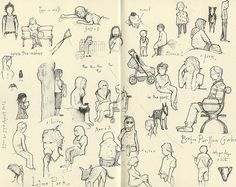 Original pinner sez: I want to practice my people sketching