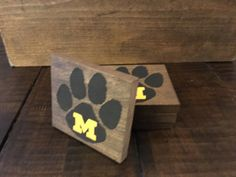 Missouri Tigers Custom Wood Stained Logo Coasters by Galerie143