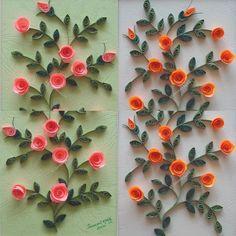Miniature roses #paperquilling #quilling JasmeetKohli.Etsy.com