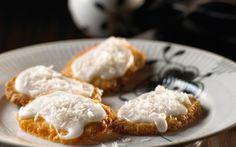 Kokoskager med citronglasur
