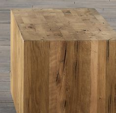 Parsons Reclaimed Russian Oak Cube | Side & Item Tables | Restoration Hardware **possible side tables or grouped together for a coffee table**we could make these!