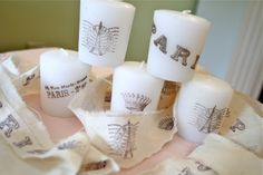 How to Stamp Candles  Great tutorial!