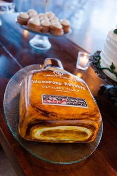 Woodford Reserve Bourbon-Inspired Groom's Cake // Charleston Harbor Resort Wedding // Dana Cubbage Weddings // Charleston SC Wedding Photographer