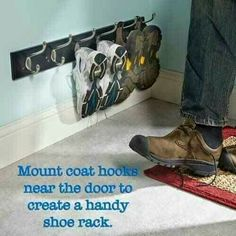 Shoe holder for front door entrance