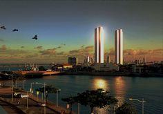 Foto do Recife Antigo, com vista para o rio Capibaripe. no final da tarde. feita com Noikon D5100.
