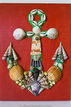 Nautical Picasso seashell mosaic kit Anchor.