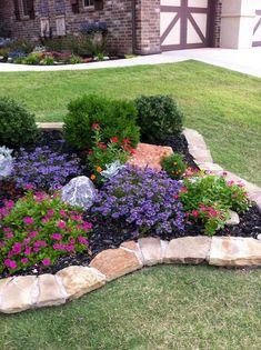 50 Stunning Spring Garden Ideas for Front Yard and Backyard Landscaping - Garden Decor Rockery Garden, Garden Edging, Border Garden, Garden Yard Ideas, Garden Projects, Backyard Ideas, Porch Ideas, Landscape Plans, Landscape Design