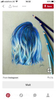 best 25 drawing hair ideas on hair sketch Amazing Drawings, Beautiful Drawings, Cute Drawings, Amazing Art, Hair Drawings, Drawing Hair, Realistic Hair Drawing, Shading Drawing, Colorful Drawings