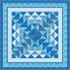 "= free pattern = Winter's Song quilt, 72 x 72"", in Artisan Batiks at Robert Kaufman Fabrics"