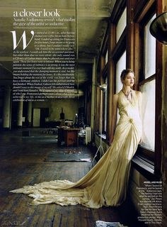Photo by Annie Leibovitz of Natalia Vodnianova