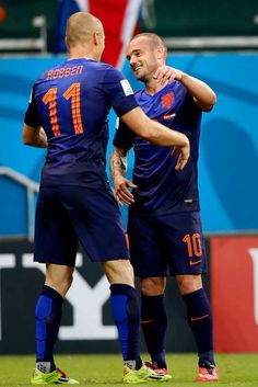 Arjen Robben en Wesley Sneijder