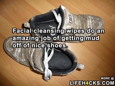 Tip For Getting Mud Off Nice Shoes - #LifeHack, #Mud, #Shoes