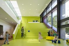 Kadawittfeldarchitektur have designed this children's day care center on the property of the Beiersdorf AG offices in Hamburg, Germany.