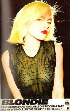 "fromglittertoshadows: "" Blondie - X Offender, 1977 Photo : Shig Ikeda """