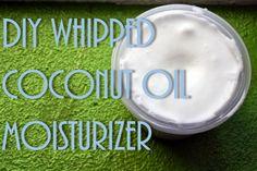 DIY Whipped Coconut Oil Moisturizer