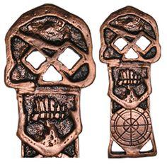 Goonies Copper Bones Skeleton Key 1:1 Scale Movie Prop Replica Chester Copperpot's Copper Bones Key