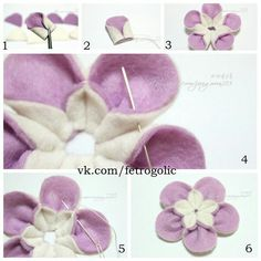 Easy DIY Felt Crafts, Felt Crafts Patterns and Felt Crafts Felt Crafts Patterns, Felt Crafts Diy, Felt Diy, Fabric Crafts, Sewing Crafts, Felt Flowers, Diy Flowers, Fabric Flowers, Felt Flower Tutorial