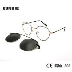 f949ac52874  Fashion  BestPrice Womens Korean Glasses Frames Round Magnet Clip On Sunglasses  Glasses Myopia Women
