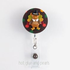 Thanksgiving Turkey Badge Reel Holiday badge by HotGlueAndPearls