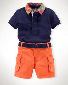 New-Baby-Boys-Navy-Blue-T-Shirt-and-Orange-Pants-Set-Kids-Casual-Clothes-Outfits