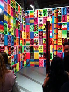 Display - so colorful and bright! #exhibitdesign #tradeshow #graphics