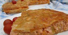 Deliciosa Emapanada de salmón y gambas, cocina tradicional , personas que no les gusta el salmón, les ha encantado esta receta!