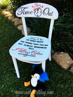 Childu0027s Time Out Chair TFMD & Personalized Time Out Chair with Timer- Back Ordered on Etsy $60.00 ...