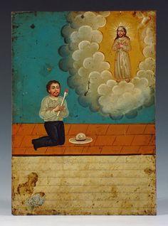 """Exvoto attr: the """"Almond Eye Painter"""" - Mexico"""