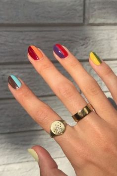 Funky Nail Art, Funky Nails, Dope Nails, Swag Nails, Hair And Nails, My Nails, Do It Yourself Nails, Tie Dye Nails, Nails First