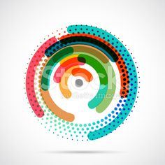 Colorful abstract circle and dot design pattern royalty-free stock vector art