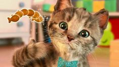 Little Kitten My Favorite Cat - Play Fun Pet Care  Learn Colors Games F... Little Kittens, Little Pets, Cat Games For Kids, Funny Songs, Kitty Games, Color Games, Learning Colors, Cool Pets, Nursery Rhymes
