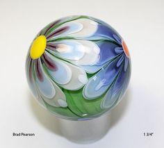 "Flower Power Marble  1 3/4 ""       Brad Pearson     SRA., via Etsy."