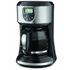 12-Cup Program Coffee Maker, Stainless Steel And Black Coffee, Tea & Espresso Appliances - http://amzn.to/2iiPu7K