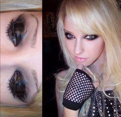 "Monroe Misfit Makeup - ""Glossy Trashy Messy Tarred Eyes"""