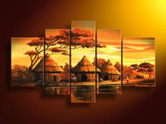Group Canvas African Art Paintings Environmentally friendly oil handmade painting New style artwork in every month. Abstract Wall Art, Canvas Wall Art, Grand Art Mural, Afrique Art, Cheap Wall Art, African Art Paintings, Dining Room Wall Art, Contemporary Wall Art, Large Wall Art