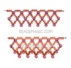 Free-beading-tutorial-necklace Sweet Garnet - 2.--- U need Seed Beads 11/0, Garnet Chips
