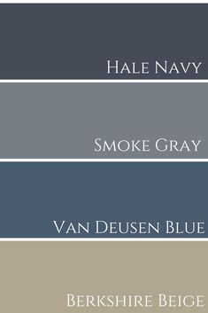 Color combinations with blues - Hale Navy & Smoke Gray & Van Deusen Blue & Berksh . Color combinations with blues – Hale Navy & Smoke Gray & Van Deusen Blue & Berkshire Beige Compar Navy Blue And Grey Living Room, Navy Blue Living Room, Beige Living Rooms, Living Room Color Schemes, Living Room Colors, Navy Blue Decor, Living Room Colour Combination, Decorating With Navy Blue, Blue Grey Walls
