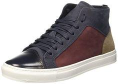 Antony Morato Herren Sneaker Alta Hohe Sneakers, Blau (7043BLU Intenso), 43 EU