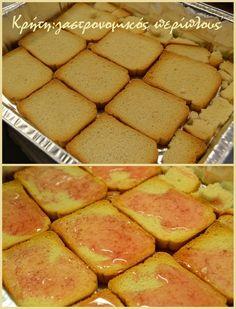 Greek Desserts, Greek Recipes, Fridge Cake, Pain, Dessert Recipes, Food And Drink, Tasty, Sweets, Vegan