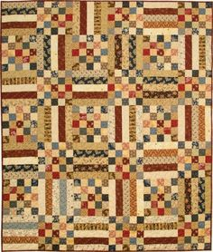 Primitive Gatherings 60 inch x 70 inch. Primitive Quilts, Antique Quilts, Vintage Quilts, Vintage Sewing, Primitive Stitchery, Primitive Patterns, Vintage Fabrics, Fall Quilts, Scrappy Quilts