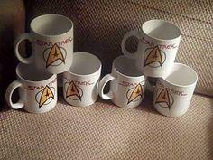 STAR Trek   LOT 6 Vintage 1994   PFALTZGRAFF  MUG Star FLEET Delta EMBLEM