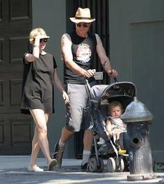 Heath Ledger, Michelle Williams and Matilda