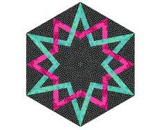 Mandala celta A-1 papel remendado teste padrão do bloco em Craftsy.com