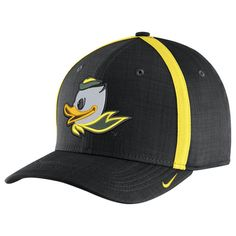 f889e8b5 Oregon Ducks Nike 2017 Alternate Logo Sideline AeroBill Adjustable Performance  Hat - Black