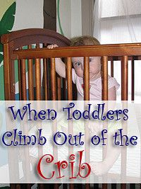 Jailbreak: Toddlers Climbing Out of Cribs...mattress directly on the floor in the crib frame. SO doing this!