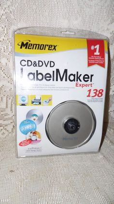 NEW MEMOREX CD AND DVD LABEL MAKER EXPERT 138 LABLES NEW SEALED! #Memorex