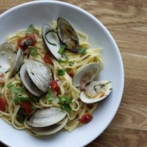 Pasta with Clams, Bacon and Beer from the Mildred